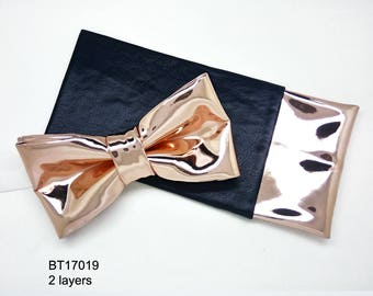 Rose Gold Mirror bow tie, Laser bow tie, Mirror leather bow tie, Rose Gold bow tie, custom bow tie, Kid's bow, bow tie,  BT17019 20