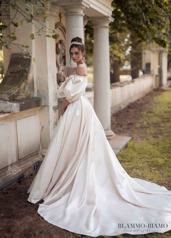 Unique Wedding Dress MEDEA Bohemian Tulle Ball Gown The Princess Bride