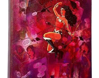 DC Comics Art / Wonder Woman / Superhero Wall Art  Comic Art / Superhero Decor Comic Book Art Gift / Superhero Gift Comic Book Art  Canvas