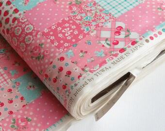 NEW ~ 1/2 yard Yuwa Atsuko Matsuyama Japan | Lovely Patchwork | AT116549 Pink