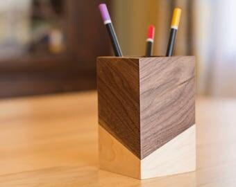 Pencil Holder Wood – Desk Accessories