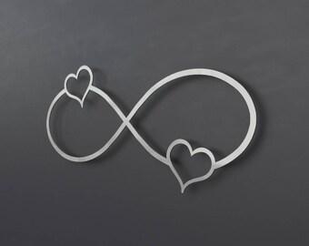 infinity symbol metal wall art metal wall cross heart. Black Bedroom Furniture Sets. Home Design Ideas