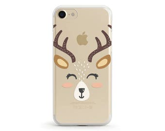 Dear Deer, Clear Soft Phone Case, iPhone 7, iPhone 7 plus, iPhone 6, iPhone SE, Samsung