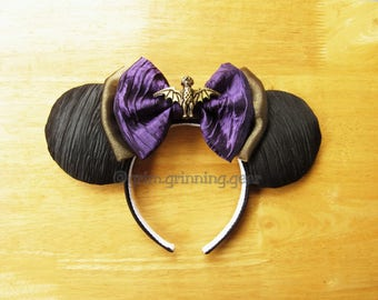 Minnie Mouse Ears- Black Haunted Ears