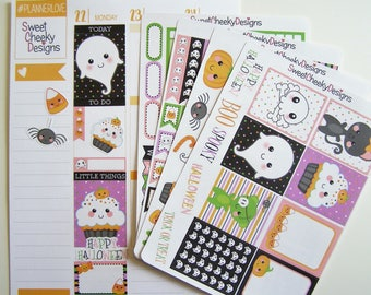 Kawaii Halloween Weekly Planner Kit!  Available for Erin Condren Life Planner or MAMBI/Happy Planner