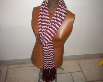 scarf collar open bordeaux/Ecru