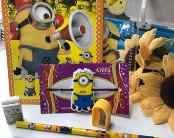 Minion rakhi gift set for kids