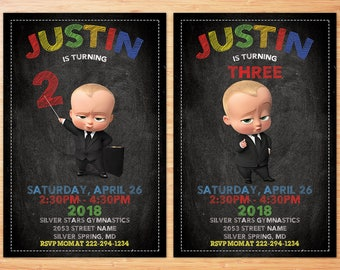 Boss baby invitation, Boss baby invite, Boss baby birthday invitation, Boss baby instant download, Boss baby invite, Boss baby Personalized