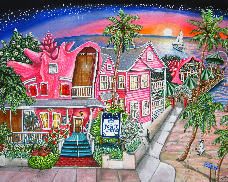 Louie's Backyard Key West Florida Print