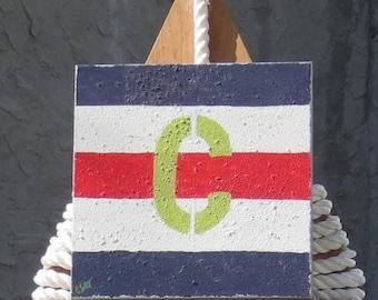 "Signal Flag ""C"" nautical print"