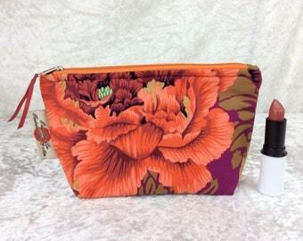 Peony Brocade Zip Case Bag Pouch fabric Kaffe Fassett Philip Jacobs Handmade in England