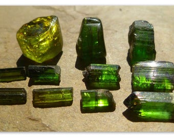 Vibrant LOT Tourmaline crystals 71 cts great for facet cabs or wire wrap