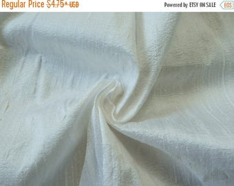 5% off White Silk Fabric, Pure Dupioni Silk Fabric, Silk Fabric, Indian Silk Fabric