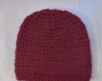 alpine wool hat in red