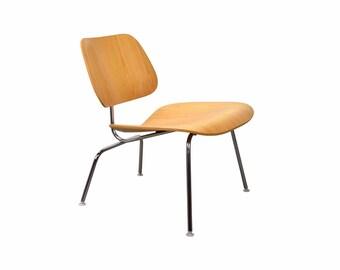 Vintage Eames Herman Miller LCM Lounge Side Chair Bent Plywood