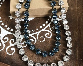Swarovski Crystal Necklace in Denim