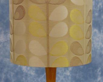 Lampshade with golden leaves