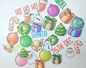 Christmas Die Cuts, Ephemera, Card stock pieces, Scrapbooking, Junk journal, Erin Condren, Happy Planner, TN.