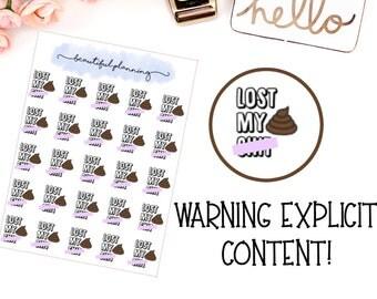 Lost My S**t Sweary cuss word Planner Stickers for use in ERIN CONDREN LIFEPLANNER ™, Happy Planner, Tn, Midori,