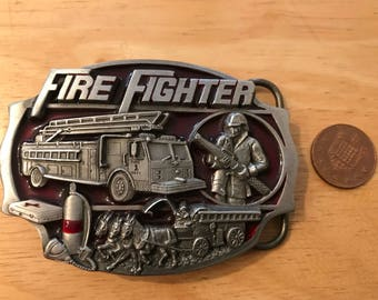 Arroyo belt buckle AG-13 Firefighter Made in USA 1989.Very good condition . Size ~80x60 mm