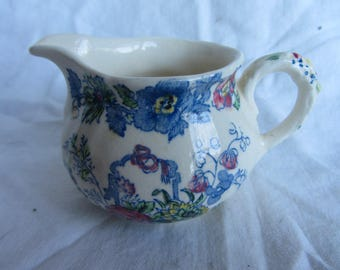 Small vintage Mason's Ironstone Strathmore pattern creamer. English, collectable .