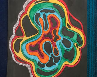 "Abstract ""Cell"" Marker Drawing"