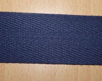 25 mm Navy blue cotton twill