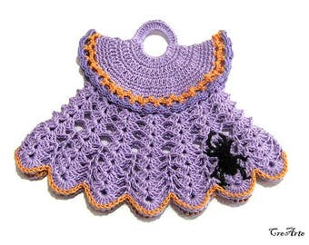 Halloween Crochet Potholder, Crochet Dress Potholder, Kitchen Decorations