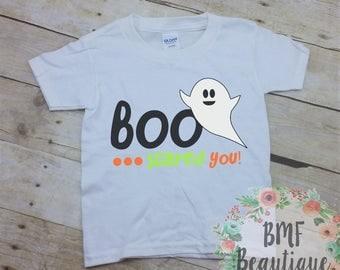 BOO Scared You Youth Halloween Shirt, Cute Kids Shirt, Kids Ghost Shirt, Kids Halloween Shirt, Cute Halloween Shirt, Cute Ghost Tee