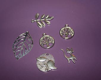 SET OF 6 METAL FOR MAKING CHARMS