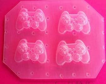 SUMMER SALE 4pc Mini Kawaii XBOX Game Controller Inspired Flexible Plastic Mold For Resin Crafts Decodan