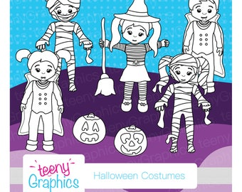 Halloween stamp set, Mixed Costumes,Small Commercial Use,Vector,Downloads,Scrap booking,Stamp,mummy,vampire-stamp06
