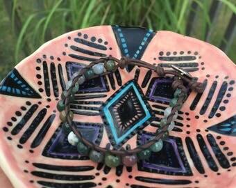 Chan Luu Inspired Indian Agate Gemstone Bracelet