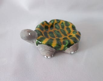 Vintage turtle stoneware / Vintage Turtle in stoneware