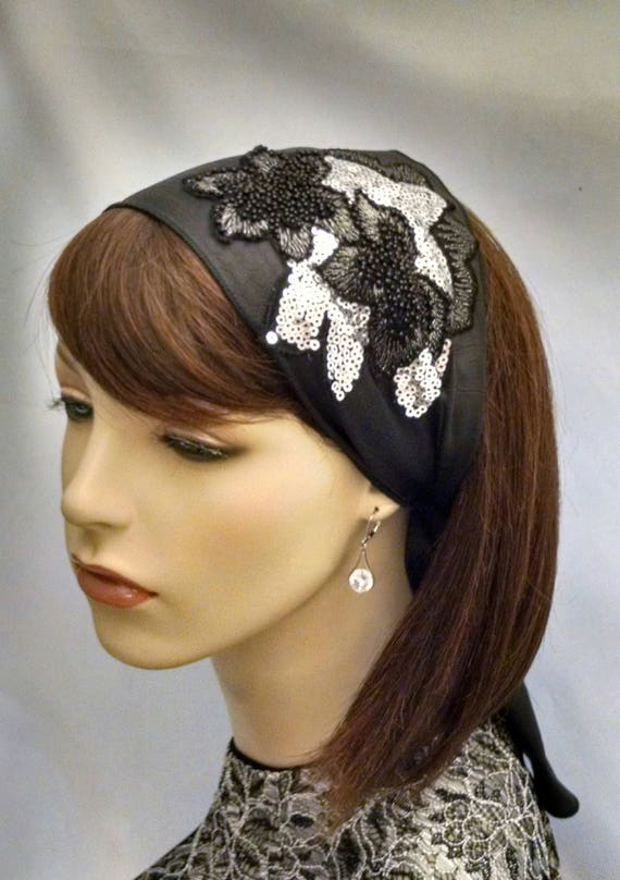 Exquisite leatherette sparkling headband, headbands, half head covering, frisette
