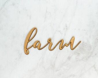 Farm   Laser Cut Wooden Word