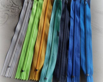 7 colors mixed 20 Pack 1 cm zips