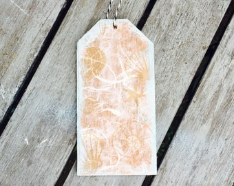Beach wood tag, wood gift tag, nautical gift tag, large gift tag, gift idea, wine bottle tag, gift accessory