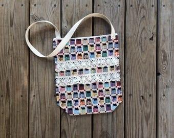 Primitive Colonial Handmade Fabric Shoulder Bag