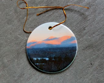 Adirondack Pink Mountain Ornament