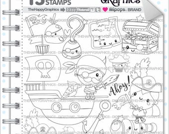 Pirate Stamp Commercial Use Digi Digital Image Digistamp