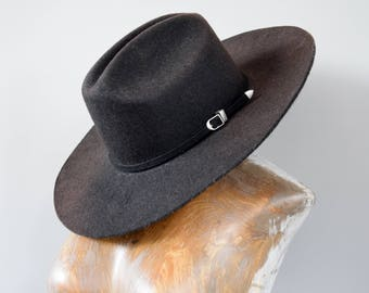 Vintage Cowboy Hat. Vintage Mexican Hat. Vintage Mexican Sombrero. Vintage Black Hat