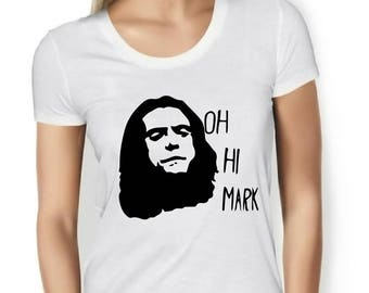Womens Designer Oh Hi Mark  Printed Cotton Black T-Shirt