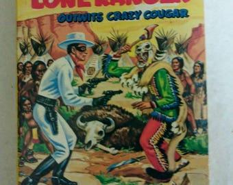 Lone Ranger/Whitman/Big Little Book/Vintage Lone Ranger Book/The Lone Ranger Outwits Crazy Cougar/1968 Children's Book/Vintage Comic Novel