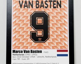 Dutch Football Legends Poster Van Basten Gullit Rijkaard