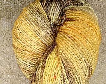 Solstice, hand dyed BFL high twist fingering yarn