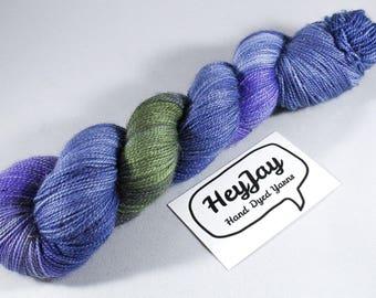 Sparkle Hand Dyed Sock Yarn - Gloom Glamour