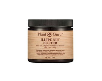 Illipe Nut Body Butter 100% Pure Raw Fresh Natural Cold Pressed. Skin, Hair, Nail Moisturizer, DIY Creams, Balms, Lotions, Soaps.