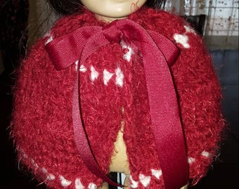 Crocheted 18 Inch Doll Cape