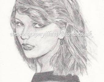 Taylor swift print Etsy